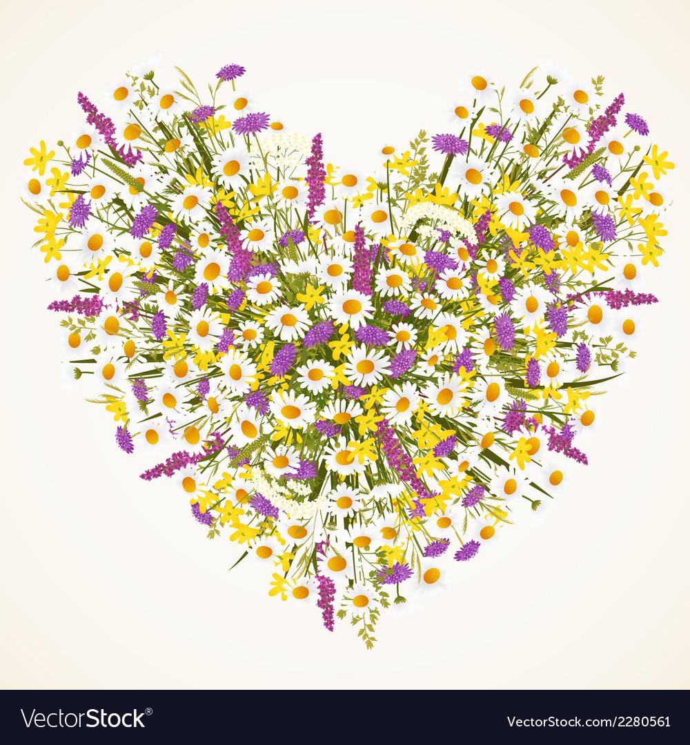 Wild flower heart