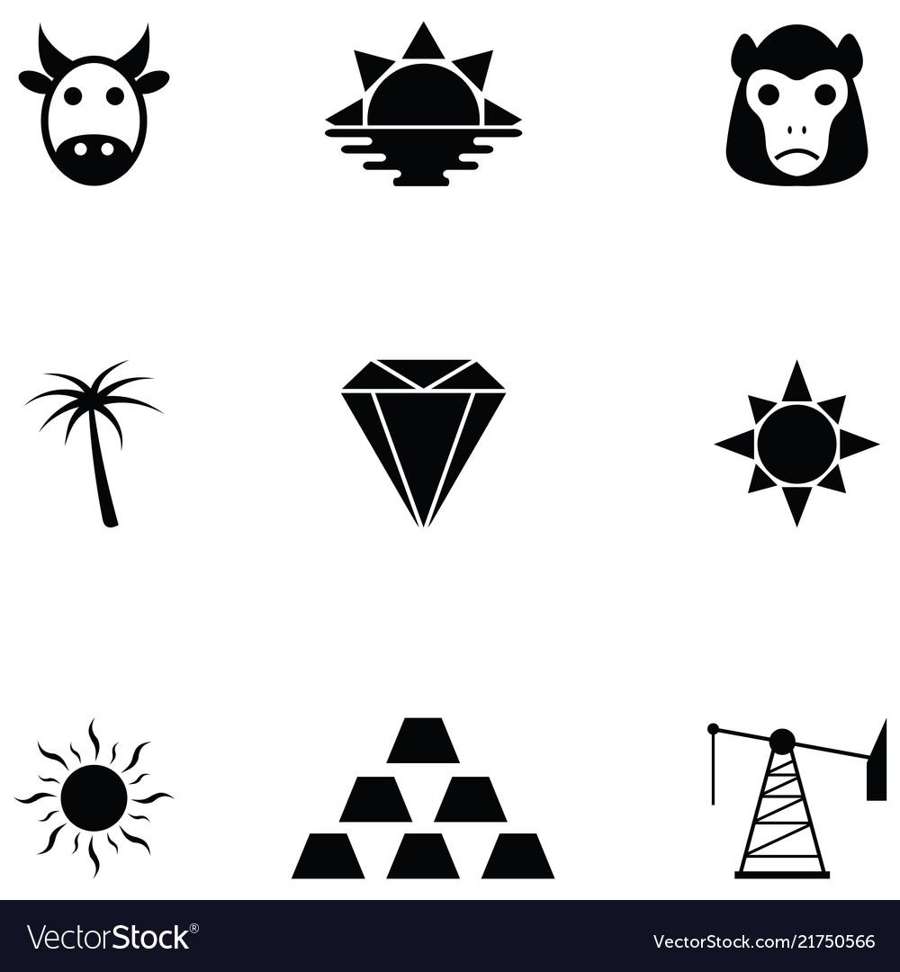 Africa icon set
