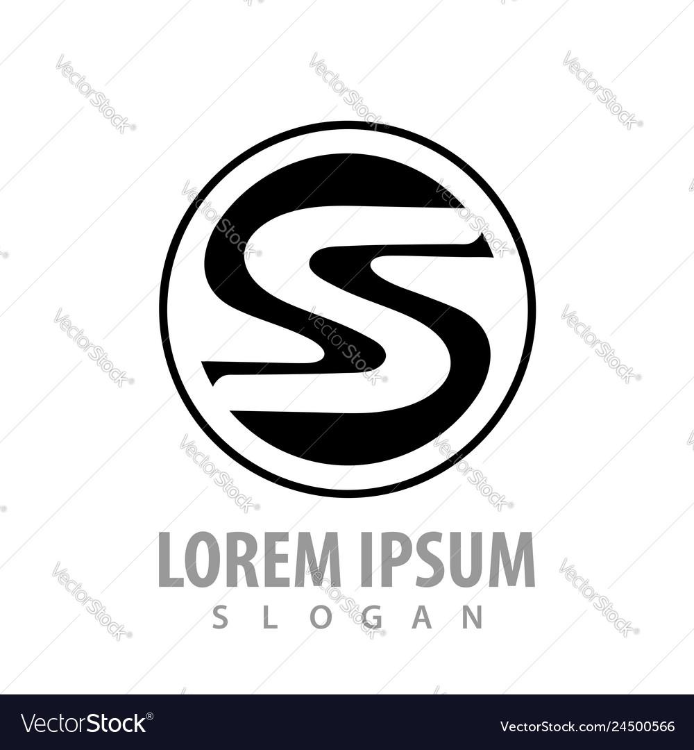 Circle monochrome s letter concept design symbol