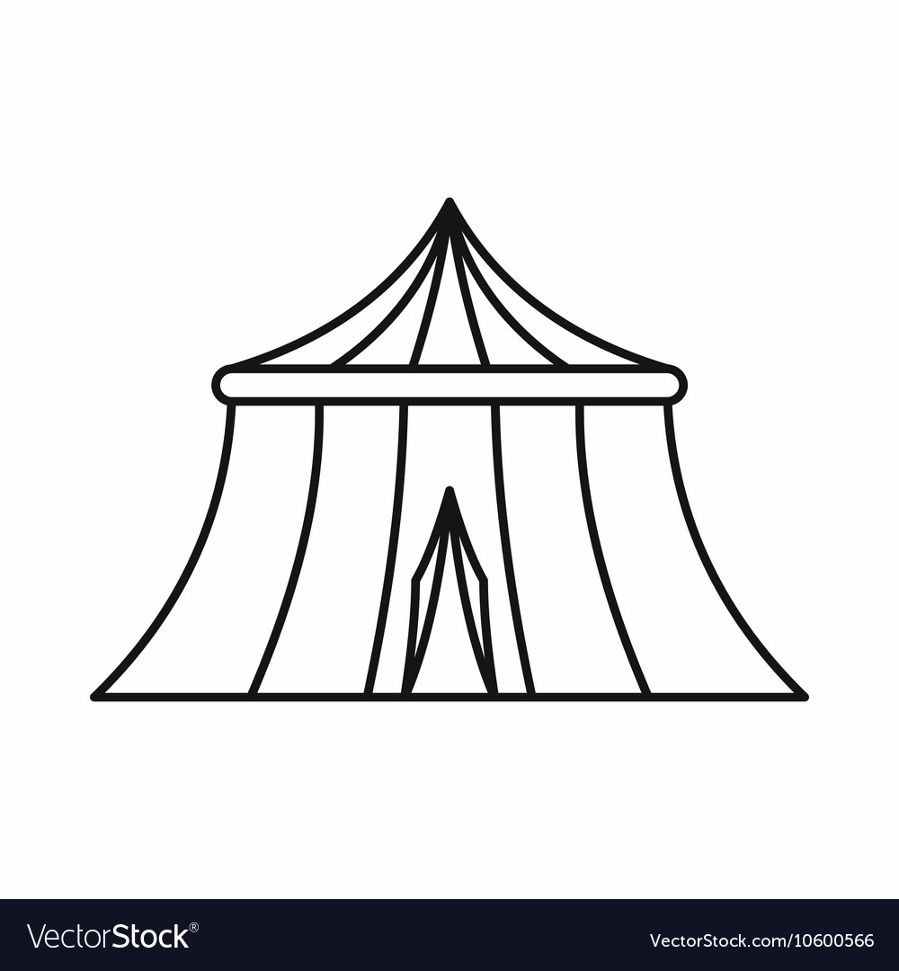 Circus tent icon outline style vector image