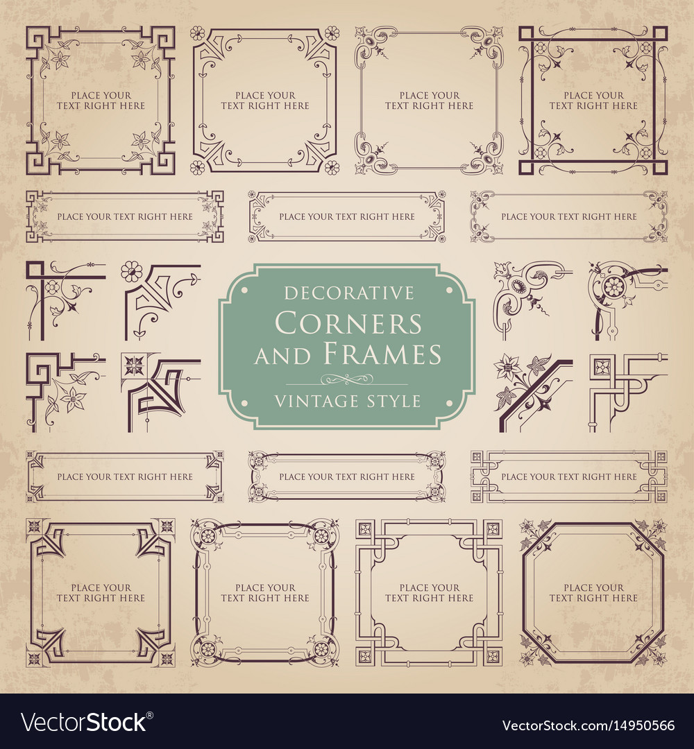 Decorative Corners And Frames Royalty Free Vector Image