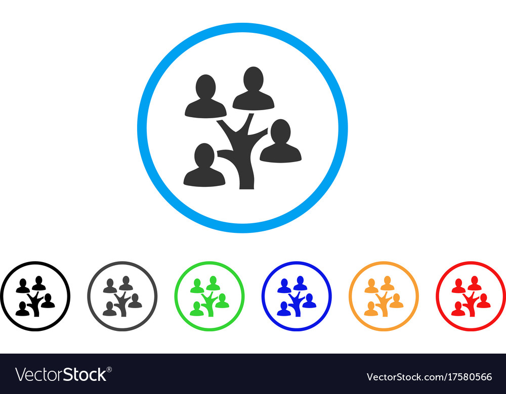 Genealogy tree rounded icon vector image