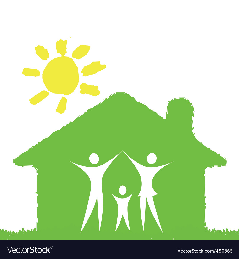 Green family vector image
