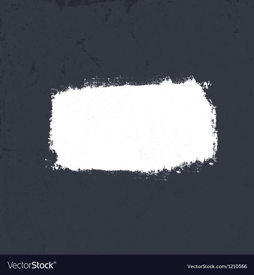 White grunge label on dark textured background EP