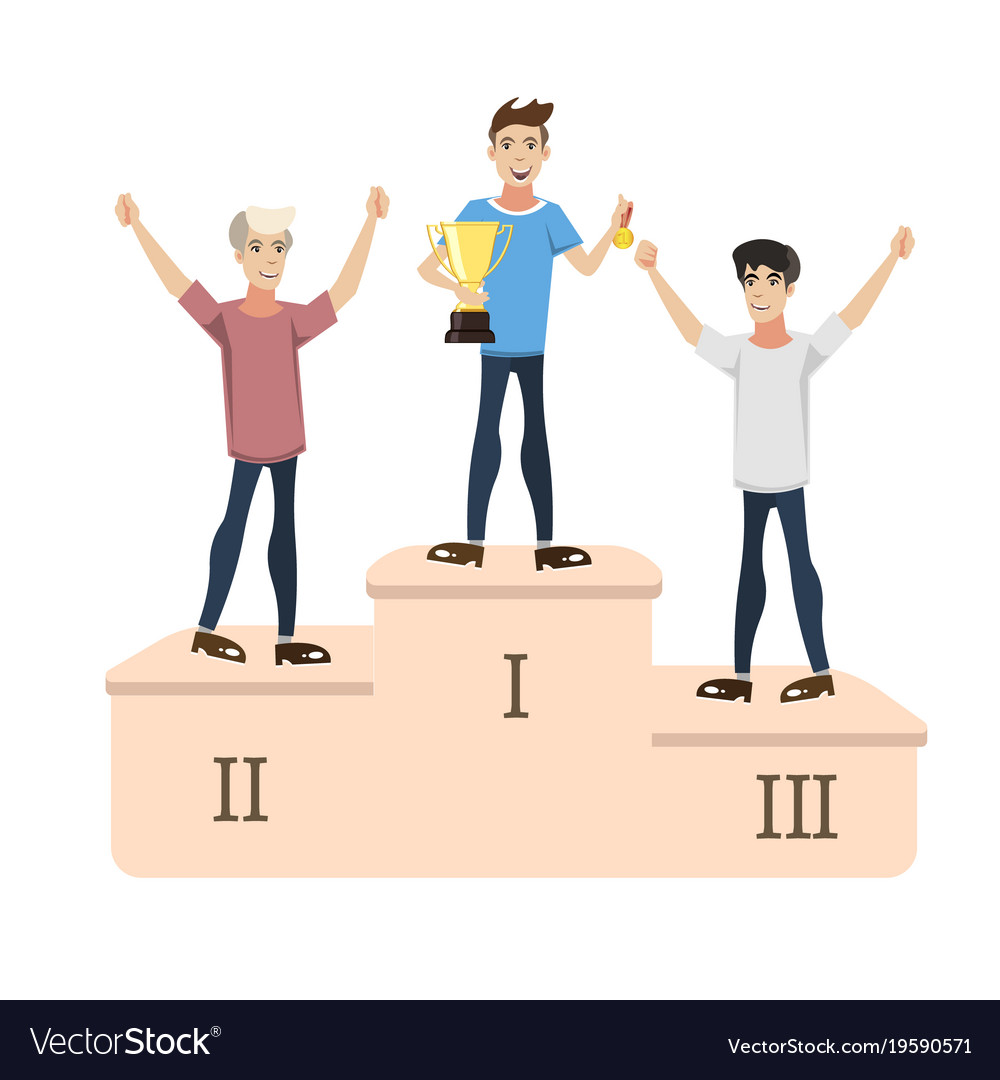 3 men - the winners of the competition