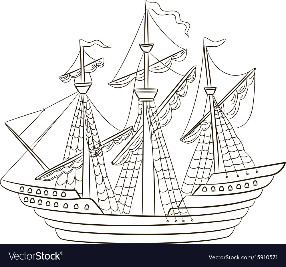 A sailing ship vector image
