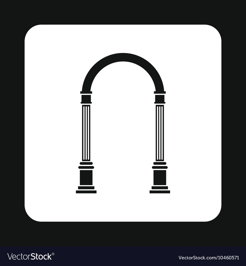 Arch with classic design icon simple style