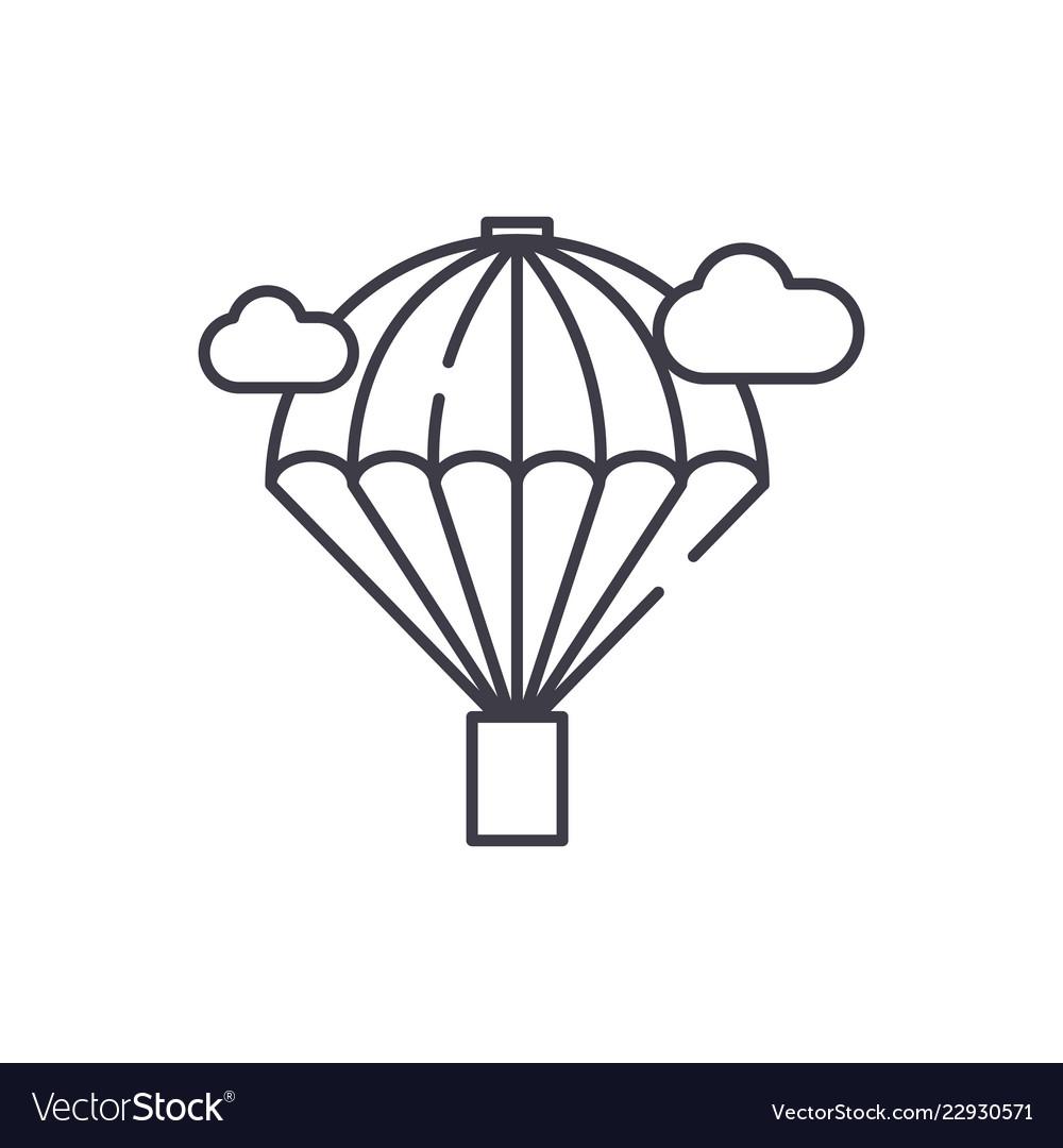 Balloon line icon concept balloon linear