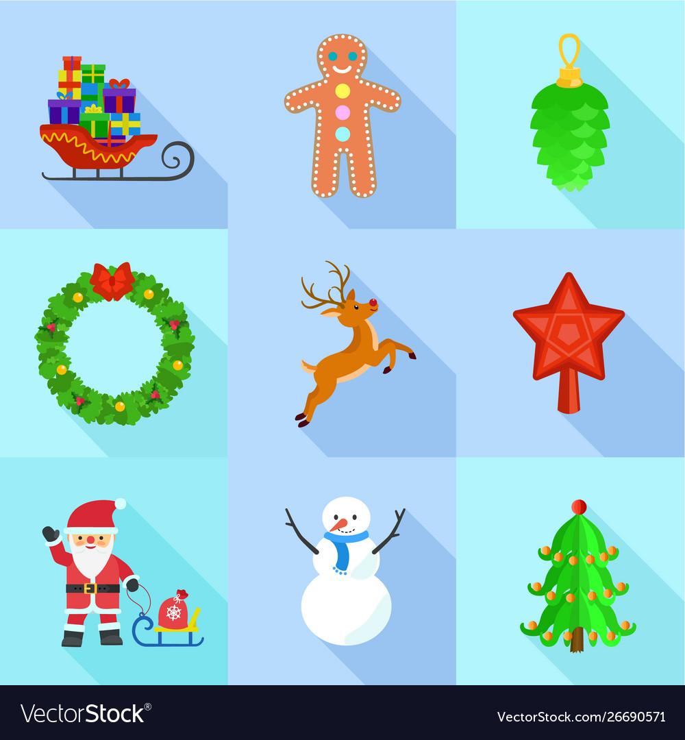 Christmas Holidays Icon.Christmas Holidays Icon Set Flat Style