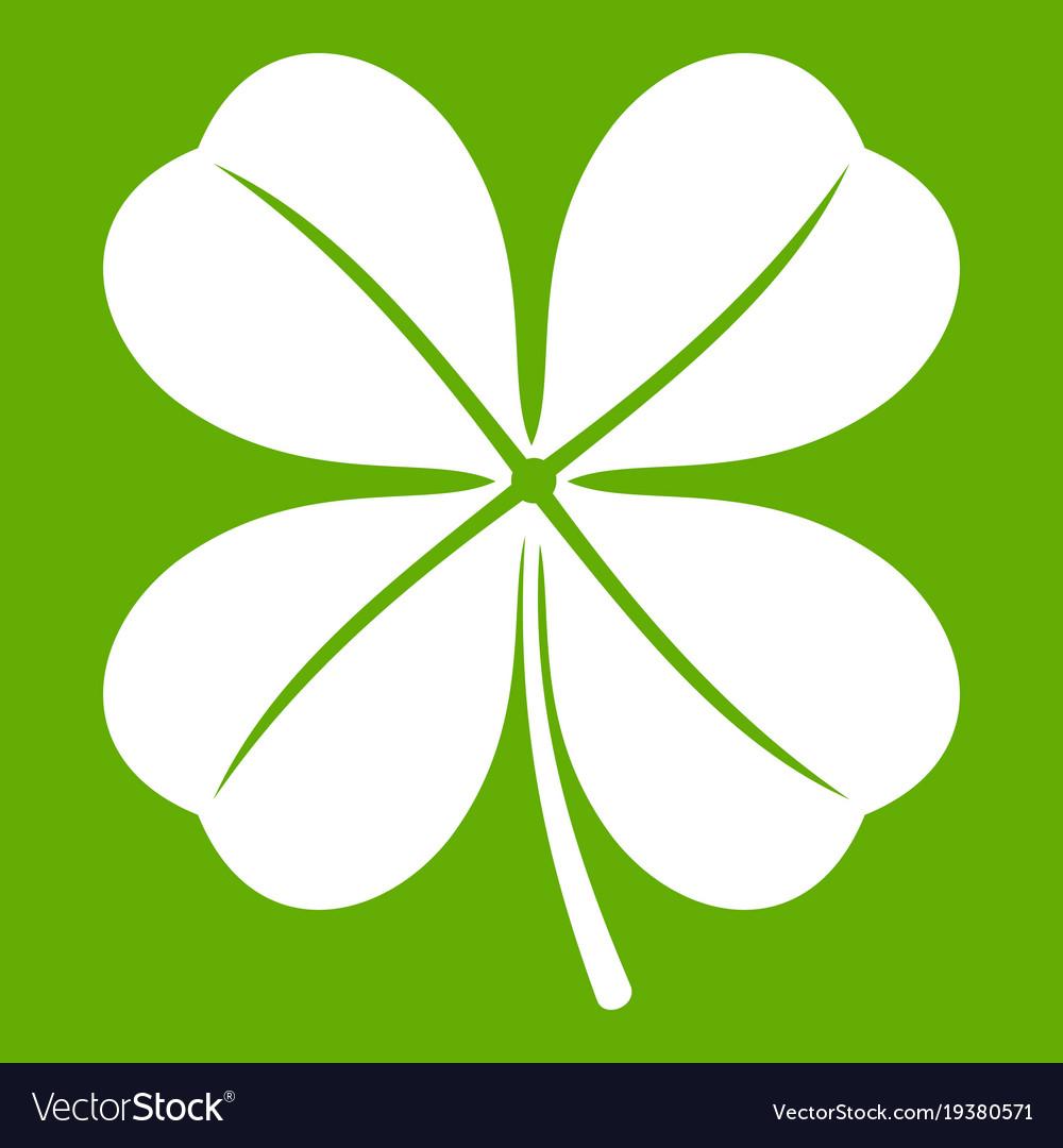 Clover leaf icon green