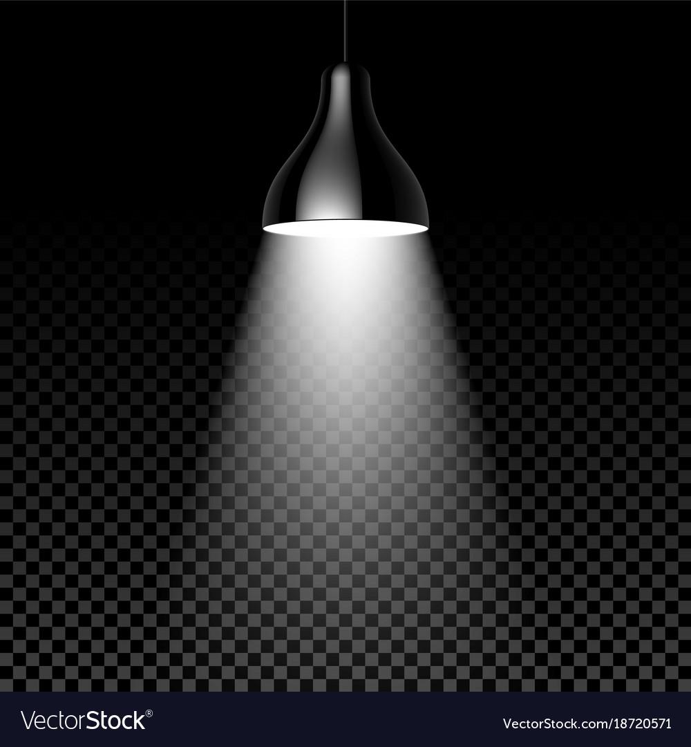 Hanging Lamp On Black Transparent Background Vector Image