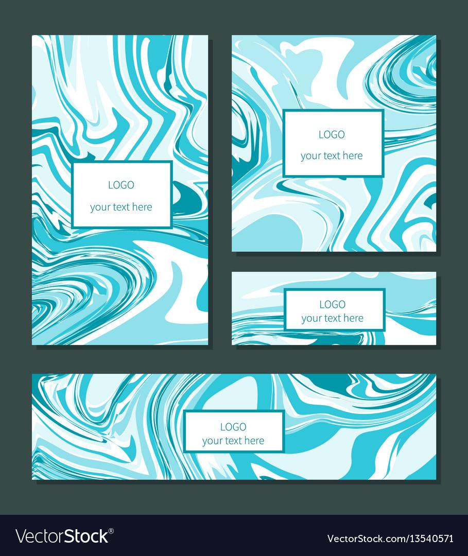 Liquid swirls handmade texture business cards or vector image colourmoves