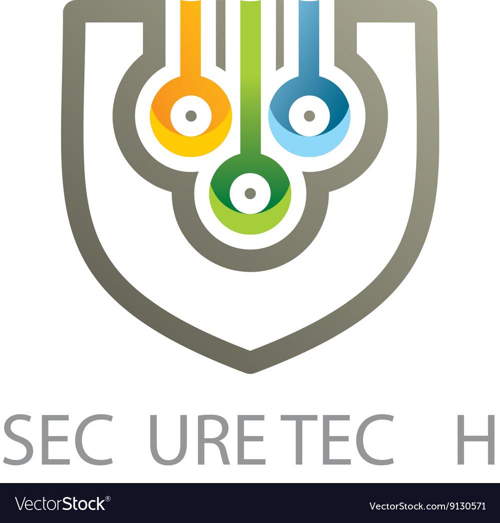 Logo emblem set Conecting symbol