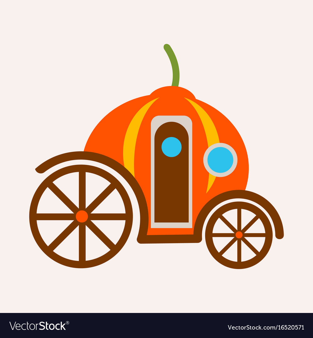 Pumpkin carriage from fairy tale of cinderella