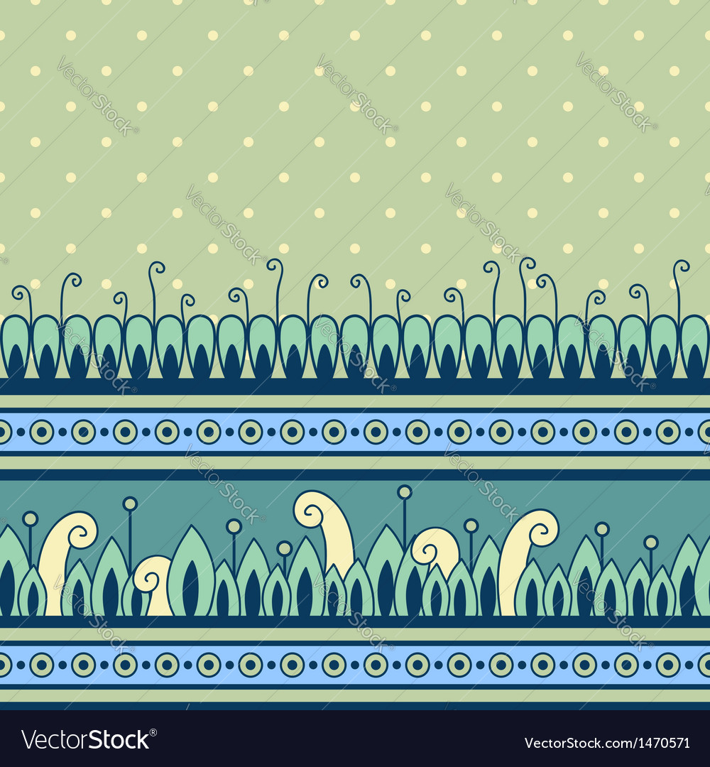 Seamless pattern with decorative border
