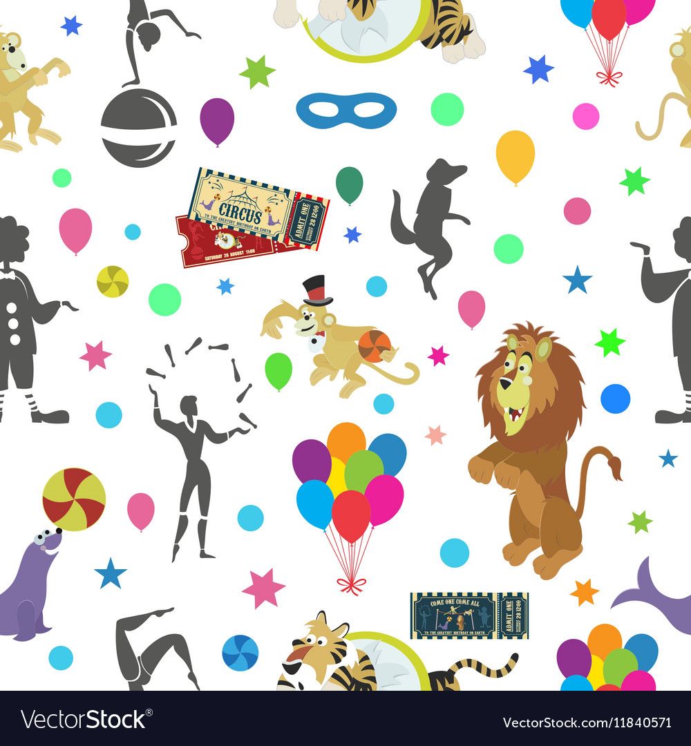 Wonderful seamless pattern of circus and