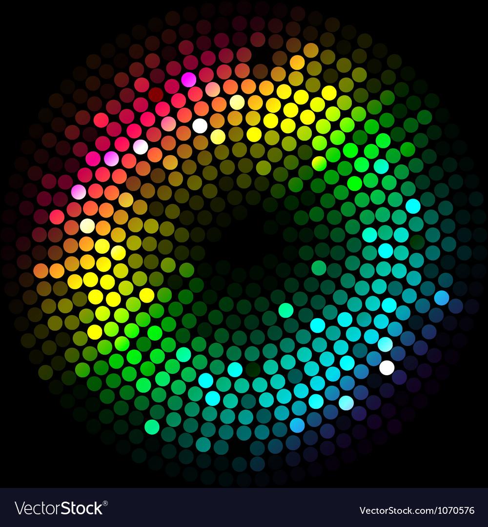 Abstract colorfu lights cyrcle vector image