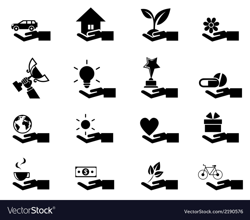 Hand concept icons eps 10