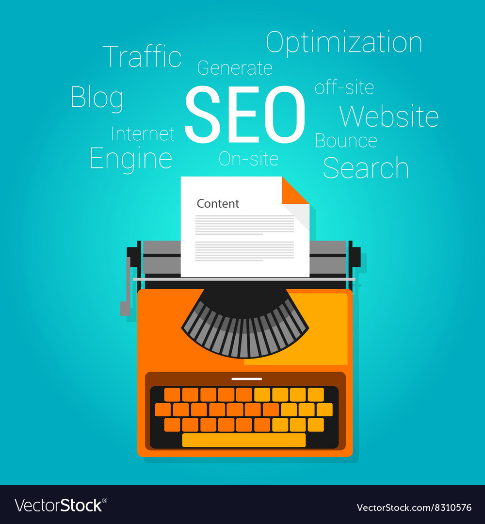 Seo content marketing strategy concept search