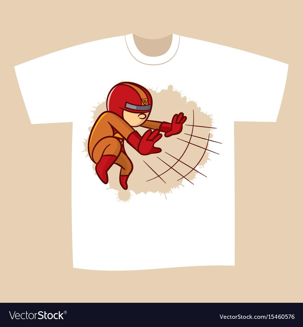 90831e5a T-shirt print design superhero Royalty Free Vector Image