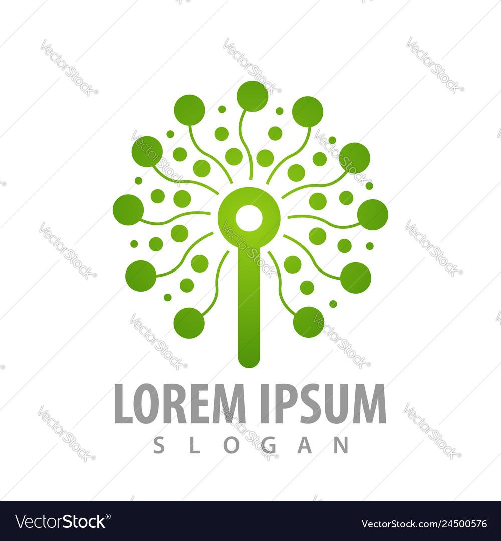 Technology tree concept design symbol graphic