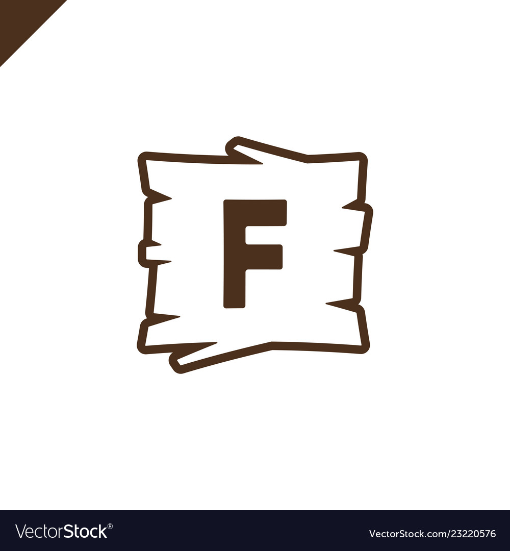 Wooden alphabet or font blocks with letter f