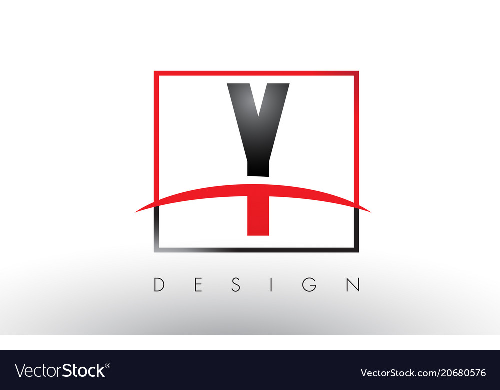 Y logo letters with red and black colors and
