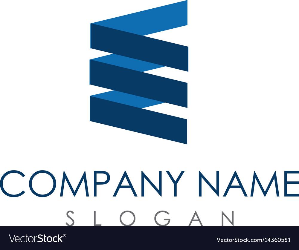 Abstract letter e logo vector image