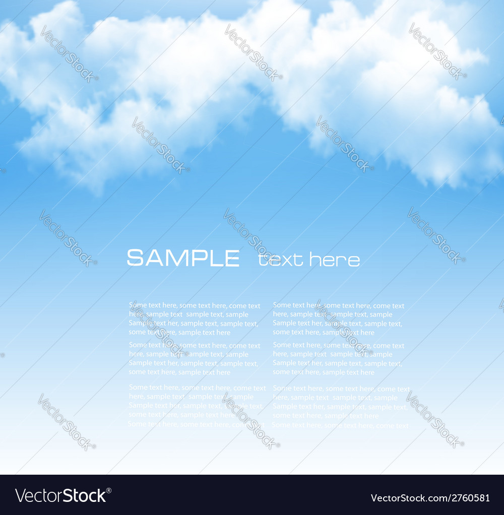 Background with a cloudy blue sky