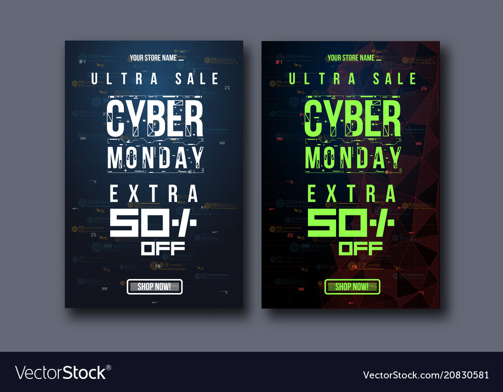 Cyber monday background with futuristic user