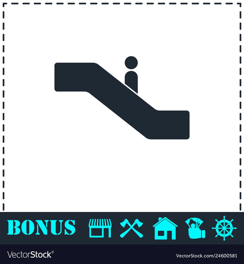 Escalator icon flat