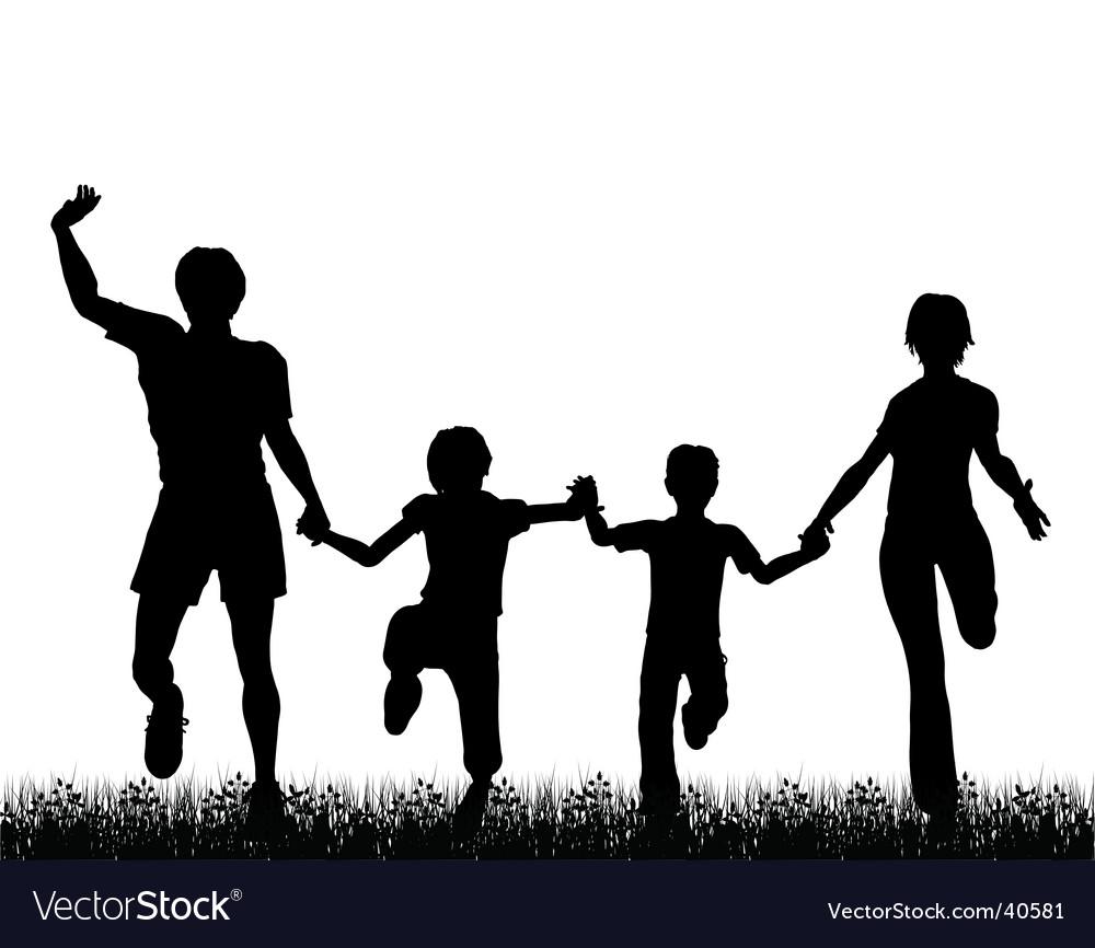 Family fun vector image