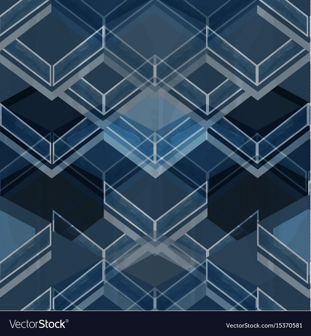Geometric blue pattern vector image