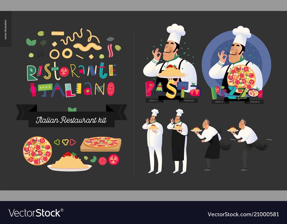 Italian restaurant set