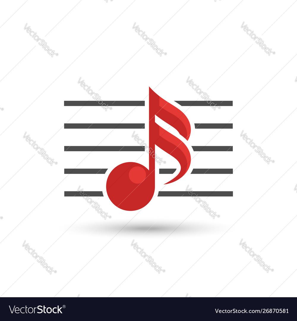 Musical notes logo isolated on white background
