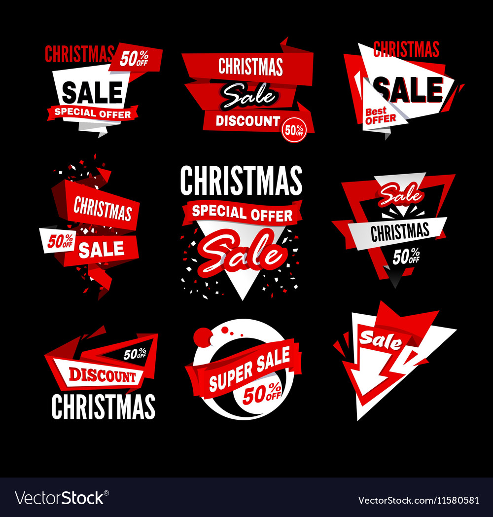 Sale tag banner