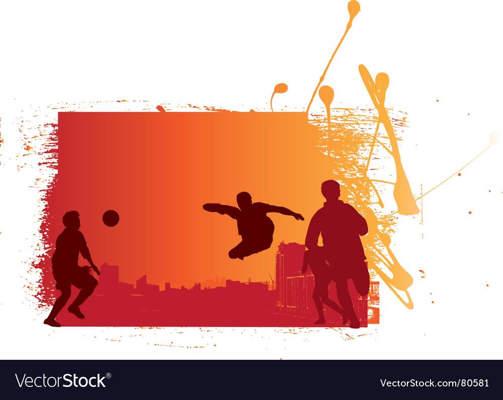 Soccer game sunset grunge