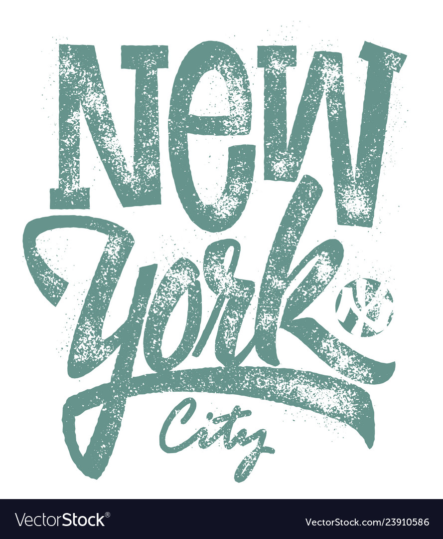 Awesome new york city typography t-shirt print
