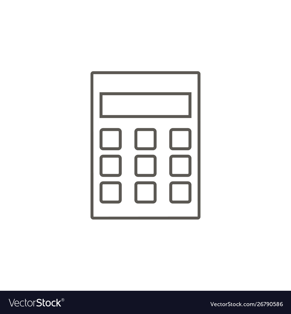 Calculator icon simple element from map and