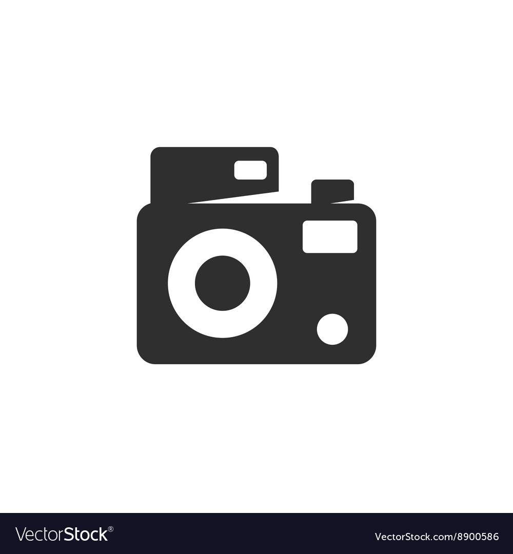 Camera Icon logo element for template vector image