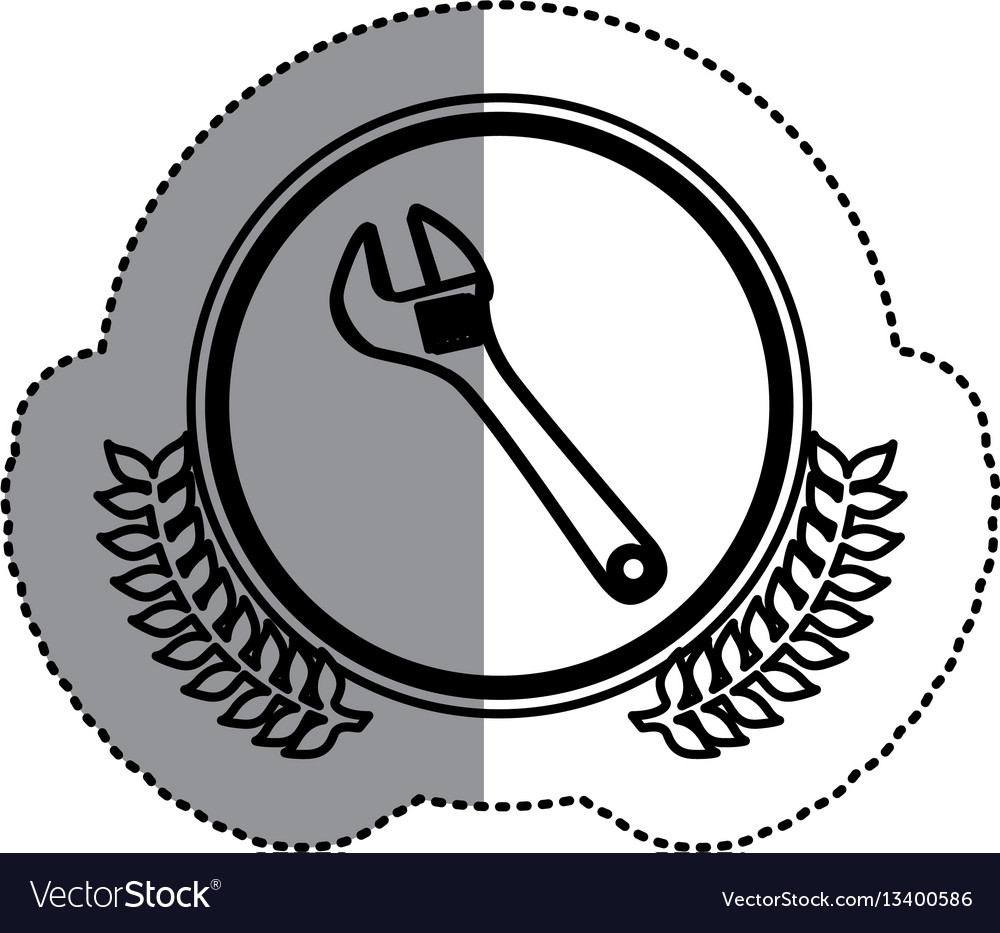Contour symbol monkey wrench icon
