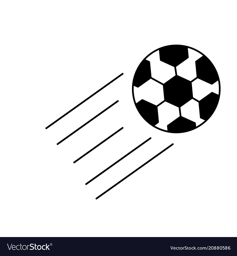 Flying ball icon vector image