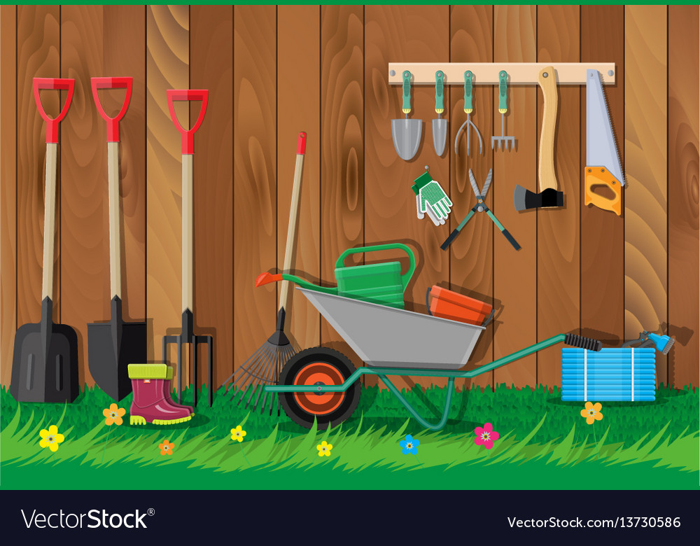 Gardening tools set equipment for garden