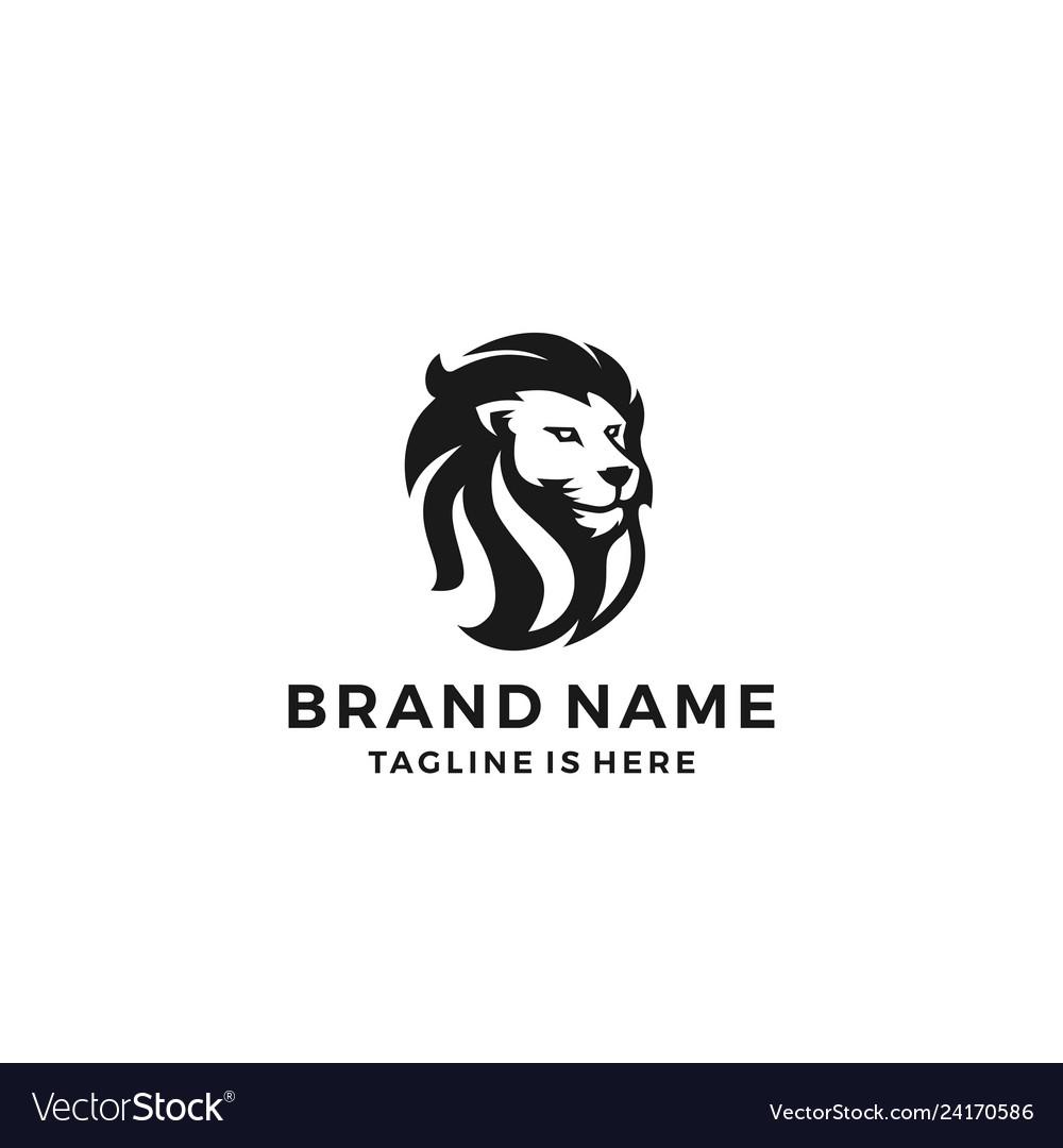 Lion head logo template icon