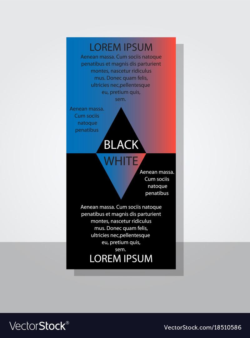 poster flyer pamphlet brochure cover design vector image