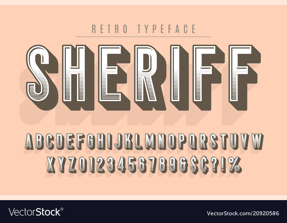 Sheriff trendy vintage display font design