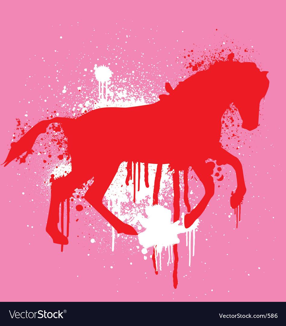 Stencil horse