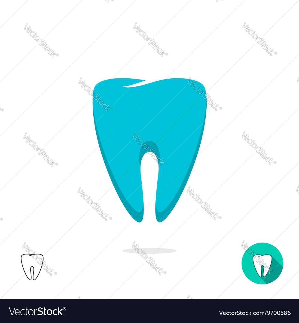 Tooth logo symbol isolated flat outline