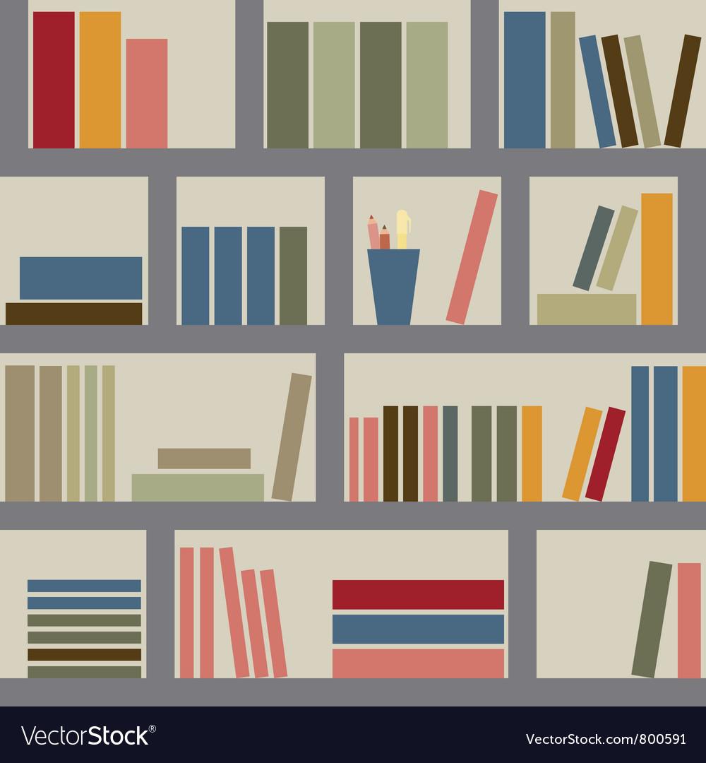 Bookshelf seamless background