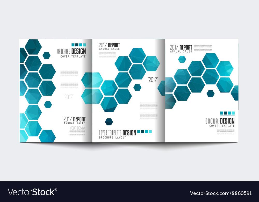 Brochure Trifolded template Flyer Design or vector image